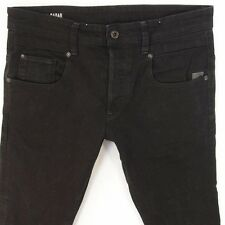 Mens G-Star RADAR TAPERED Stretch Tapered Black Jeans W33 L30