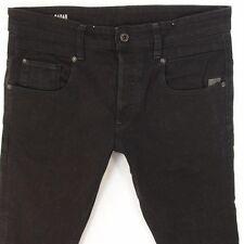 Mens G-Star RADAR TAPERED Stretch Tapered Black Jeans W33 L30