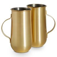 VonShef Beer Tankards Tall Coffee Mugs Set of 2 Gift Party