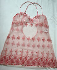 Pink Mesh Chemise from Shirley of Hollywood - Size Large