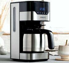 MD18458 Kaffeemaschine Thermoskanne Program. Timer 1,2L Warmplatte Edelstahl BLK