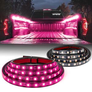 "Xprite 2pcs 60"" Led Truck Bed Cargo Light Strip Work Light Decoration Light Bar"