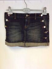 Karen Millen Dark Blue Denim Micro Mini Skirt Size 12 Cost