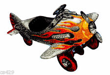 """2.5"""" ANTIQUE CAR PLANE VEHICLE TRACTOR CHARACTER FABRIC APPLIQUE IRON ON"""