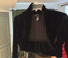 BCX Girl Velvet Black Bolero Jacket Size 16 XL NWOT