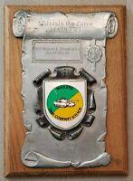 "Vintage US Army 11th ACR ""IRONHORSE"" Tank Co 3 ""MAULERS"" Award Plaque"