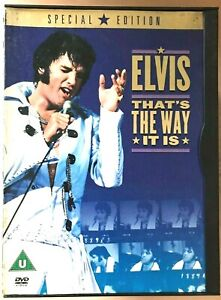 That's the Way it Is DVD Elvis Presley Rock Concert Film Movie in Snapper Case