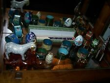 New listing 19 Pieces Cloisonne Collection, 2 animals, 13 napkin rings, 2 eggs, chopsticks