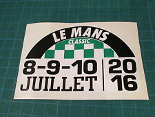 Lemans le mans classic 2016 decal sticker ~ extra small