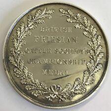 In Argento Inglesi FRISONE Cattle Society'S CHAMPIONSHIP MEDAL 1933/5 cm