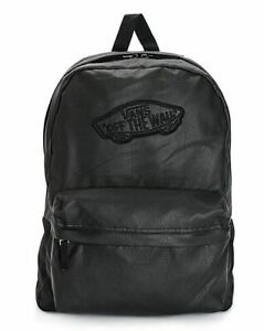 New Vans Off The Wall Realm School Black Backpack BCK-812