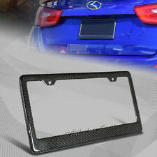 1 X Type-1 Real Carbon Fiber License Plate Holder Cover Frame Front & Rear