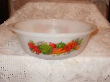 Glasbake #514 Vintage 2 Quart Round Casserole Dish Vegetable Medley    (#975)