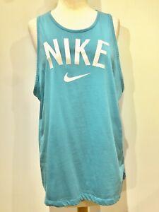 Nike Dri Fit Logo Tank Top Women's Size XLTurquoise