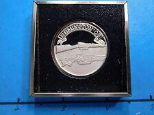 REMINGTON 1908 AUTOLOAD HIGH POWER RIFLE GUN NRA 999 SILVER COIN RARE CASE #5