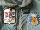 Cool! Named Patched USAF B-15D Flight Jacket 67th FS Fighting Cocks 18th FBW 38