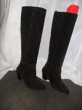 "DUNE"" TARRY"" BLACK UNLINED PULL ON KNEE HIGH BOOTS SZ 5"