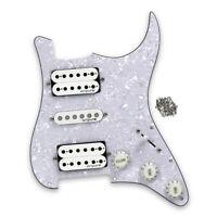 Set ST HSH Guitar Loaded Pickguard Prewired Alnico 5 Pickups Pots 5-way Switch