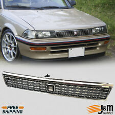 Fits 88 92 Toyota Corolla Front Upper Grill JDM Style Chrome Grille