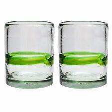 Green Stripe Tumbler - Recycled Glass