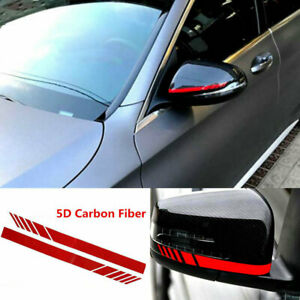 Rearview Mirror Decoration Carbon Fiber 5D Sticker Stripe Decal Car Accessories