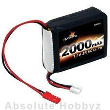 Dynamite 7.4V 2000mAh 5C 2S Li-Po Receiver Pack: 1/8 - DYN1419