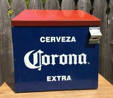 Corona Cooler Vintage Beer Cerveza Ice Chest W Opener Bar Man Cave Party Summer