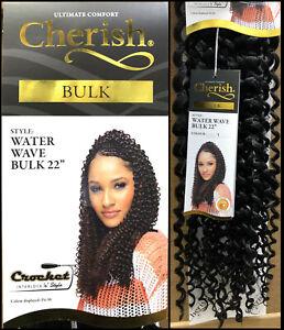 "Cherish Water Wave Bulk 22"" Synthetic Crochet Braid Long Curly Hair Extensions"