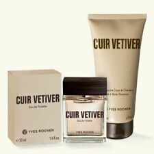 Yves Rocher CUIR VETIVER Eau de Toilette+Perfumed Hair and Body Wash