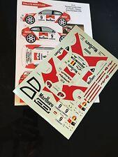 DECALS 1/24 TOYOTA COROLLA WRC LOIX RALLYE PORTUGAL 1998 RALLY BELGIQUE SPA