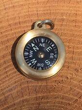 "Marbles Brass Pocket Compass 1"" Diameter w/ Lanyard Attachment"