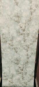 Duck Egg Cherry Blossom Tree Textured Wallpaper