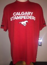 Adidas CALGARY STAMPEDERS CFL AUTHENTIC SIDELINE Mens Training Shirt L