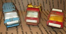~parts~ 1970-73 Tonka USA Mini Red and Yellow Dump Truck, Blue van Red truck