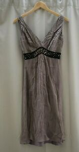 Marks and Spencer Autograph Dress Size 8 Occasion Party Sequins M&S Dusky Mink