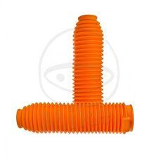 Coppia soffietti forcella universale per motocross 350x42x60 arancioni