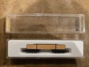 Marklin Mini Club Z Scale Model Trains Lumber Truck Flatcar 8619