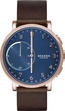 Skagen Hybrid Smartwatch Hagen Dark Brown Leather 42mm Men's Watch SKT1103 NEW