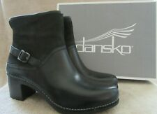DANSKO Hayley Milled Calf Black Leather  Boots Shoes US 10.5 - 11 M EUR 41 NWB