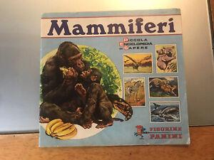 Album Mammiferi- Piccola Enciclopedia del Sapere- Panini 1976-Incompleto.