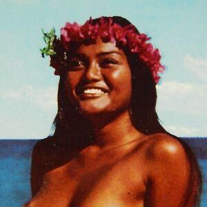 NUDE POLYNESIAN WOMAN HAWAII POSTCARD