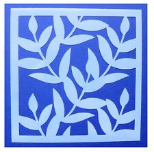 Flexible Stencil *Leaves* Leaf, Embossing Painting Card Making - 10cm x 10cm
