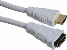 3m HDMI EXTENSION Cable Male - Female v1.4 3D HDTV High Speed + Ethernet WHITE