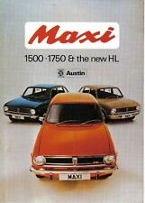 Austin Maxi 1500 1750 & the new HL Original UK Sales Brochure Pub No 2923/A 1973