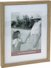 A4 Wood Certificate Photo Wooden Picture Frame With Mount  x 8 Wholesale