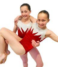 NEW RED VELVET ZIG Child M 50cm Girls 8 Gymnastics Dance Ballet Gym Acro Leotard