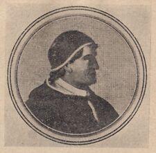 C2420 Ritratto di Papa Bonifacio IX - Stampa d'epoca - 1925 vintage print