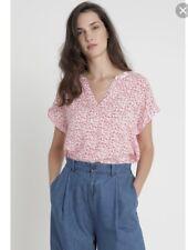 Gap Dolman Pink Floral Ditsy blouse Top Size M