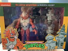 NECA Teenage Mutant Ninja Turtles New Triceraton & Roadkill Rodney New TMNT