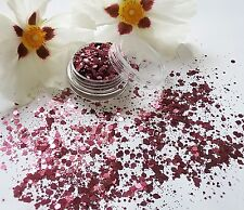 Nail Art Chunky *Plum* Mulberry Wine Hexagon Glitter Spangles Mix Pot Decoration